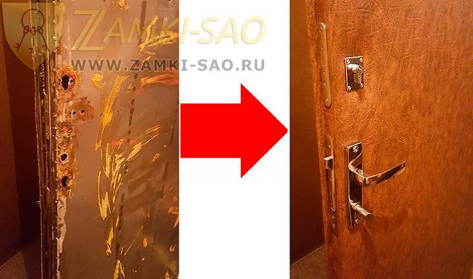 Как перетянуть железную дверь